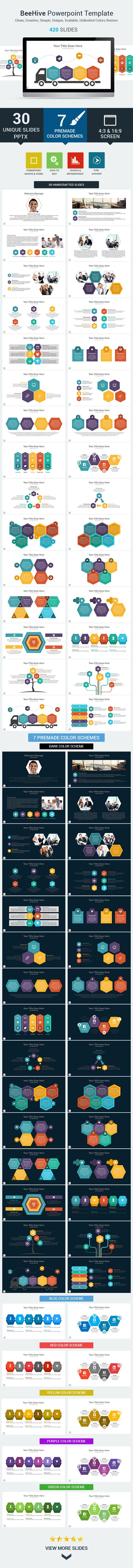 Beehive PowerPoint Presentation Template (PowerPoint Templates)