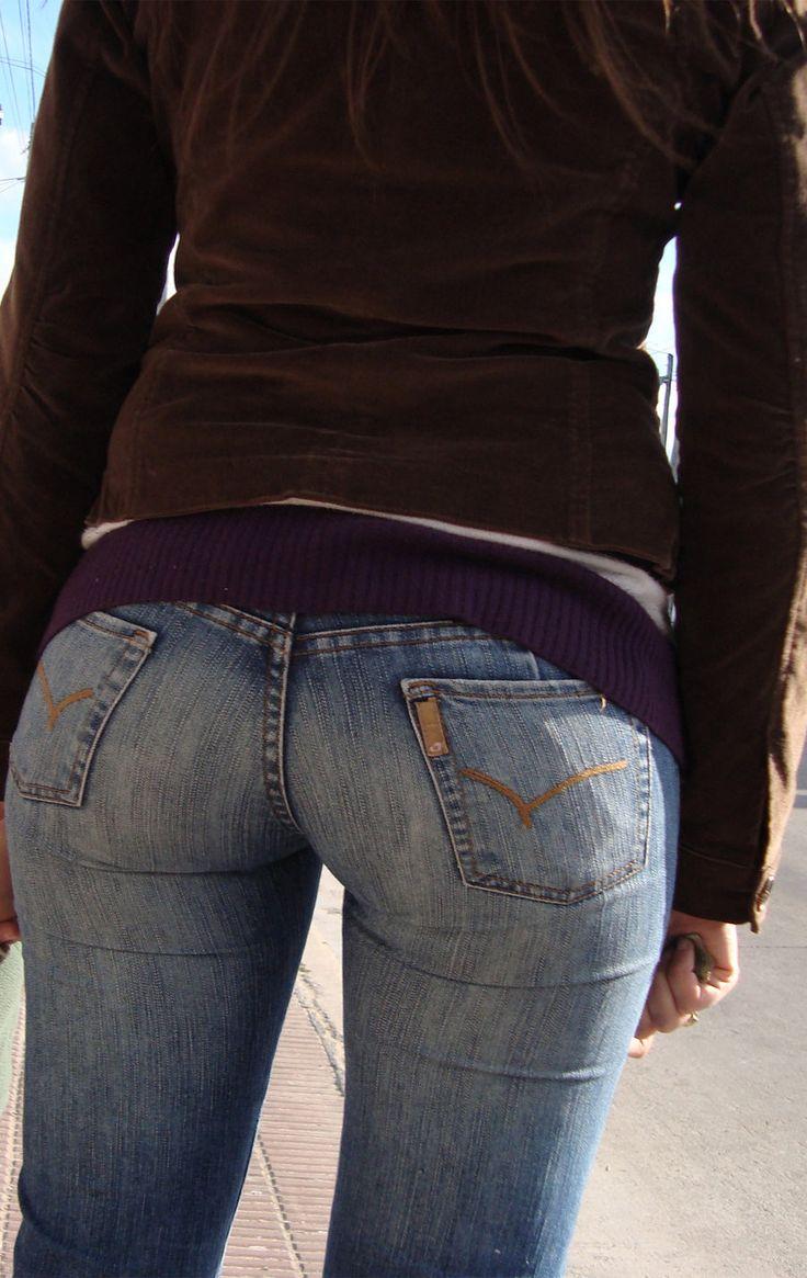 попки в джинсах девушки малолетка решила попробовать