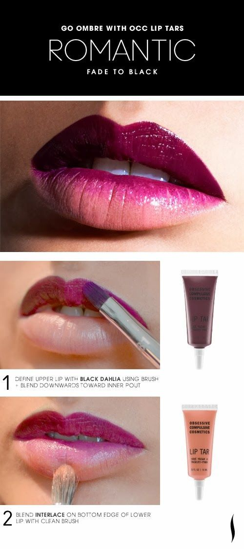 ombre lip tutorial berry. i would do more on the bottom lip though