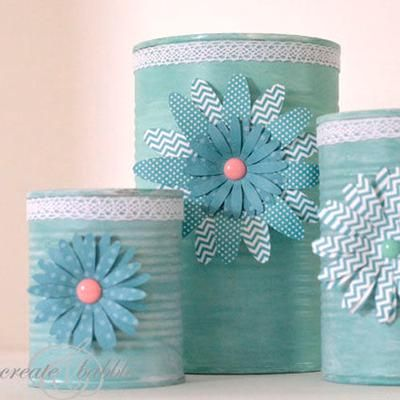78 images about diy decorated cookie tin on pinterest for Large tin can crafts