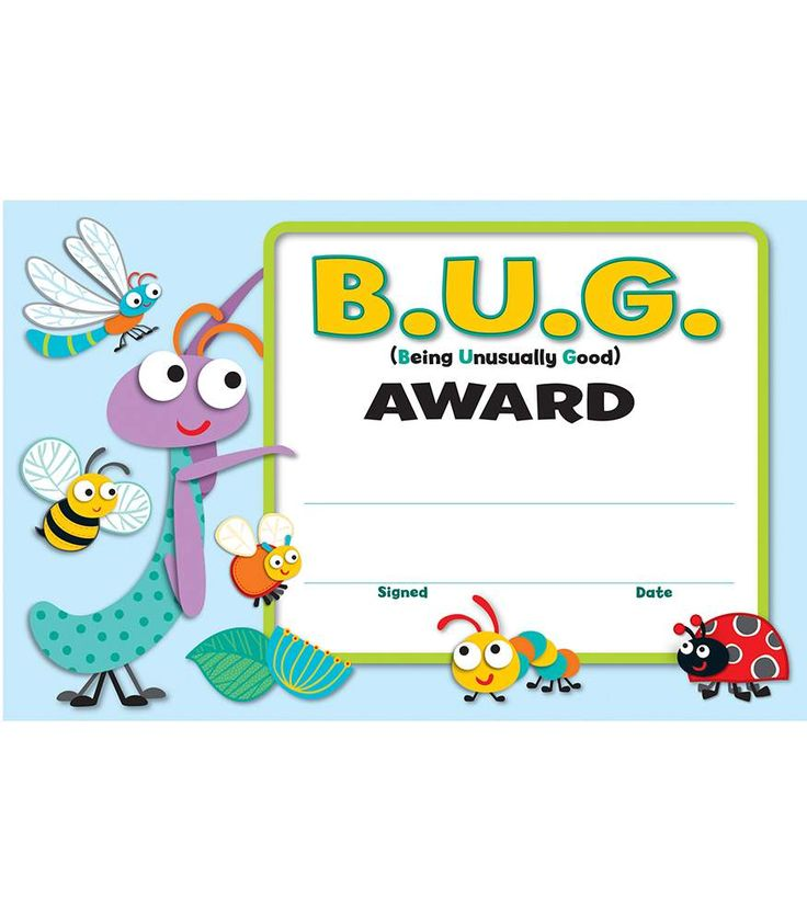 Buggy for Bugs Recognition Awards Grade PK-5 | Carson-Dellosa Publishing