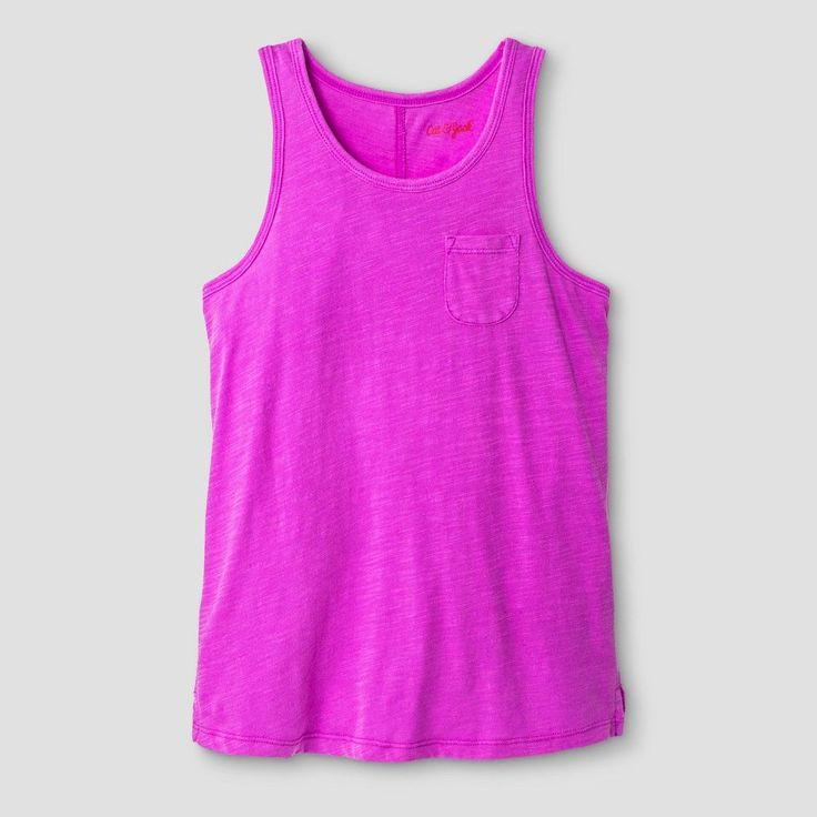 Plus Size Girls' Pocket Tank - Cat & Jack Purple XL Plus
