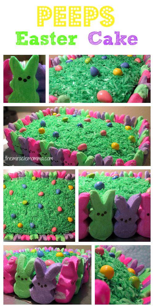 Peeps #Easter Cake - super easy!