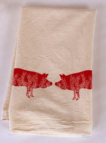Two Little Piggies Flour Sack Towel