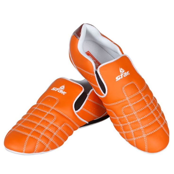 MMA Shoes Orange Color Air Vent Pivot Soles TKD Martial Arts Karate Kungfu  A Bag