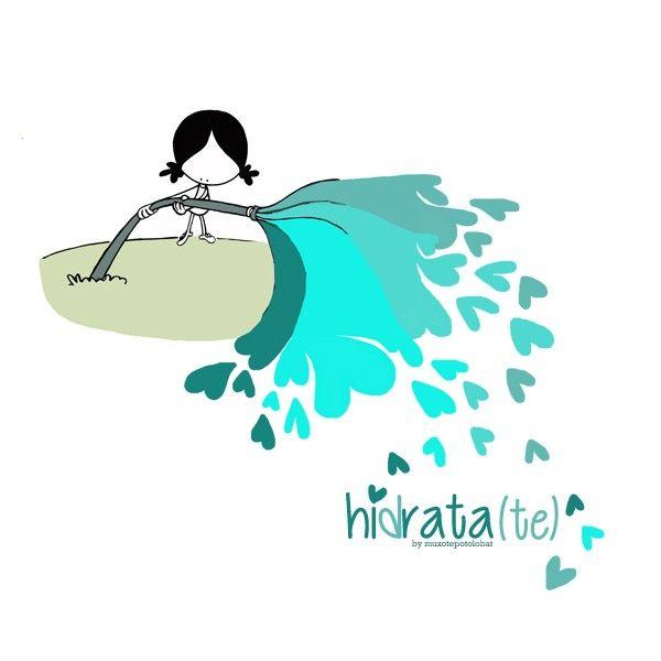 Hidratar. Ser hidratante. Ser agua que nutra los secos recovecos del corazón del mundo. Fluir. Agua que no has de beber... compártela. Be water my friend! A disfrutar del día, con chorretones de buena vibra...  Eeeegunon mundo!!