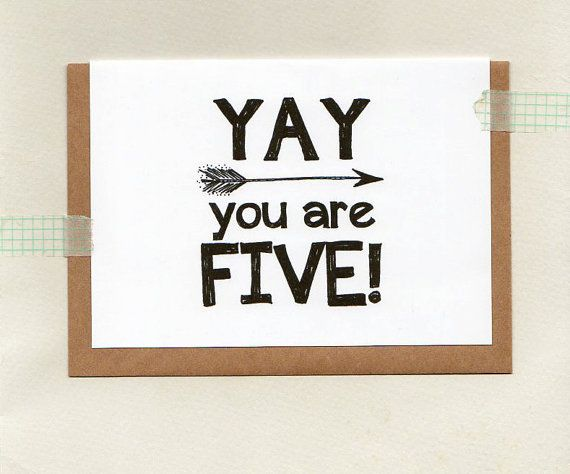 YAY you are FIVE or choose another age . kids by ThePaisleyFive
