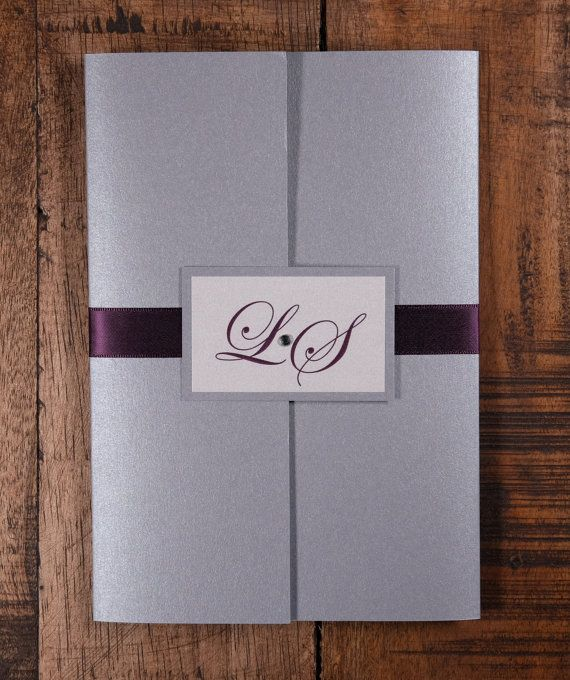 Silver And Plum Wedding Invitation Silver And By KiwiInvitations