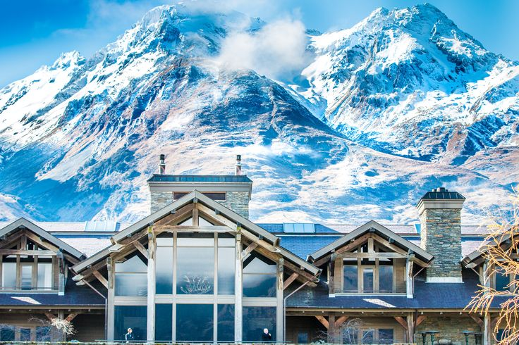 A wintry backdrop to Blanket Bay, one of New Zealands leading luxury lodges #SLH #Virtuoso #Luxurytravel