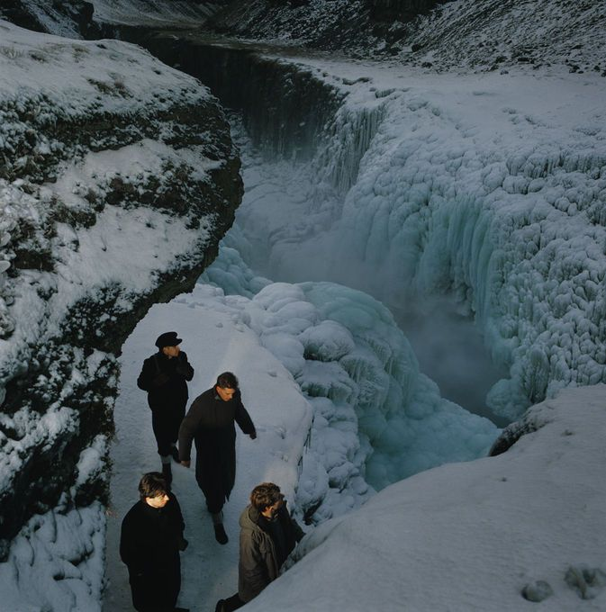 The location was Gullfoss in Iceland. It was just before Christmas and was so cold and dangerous.
