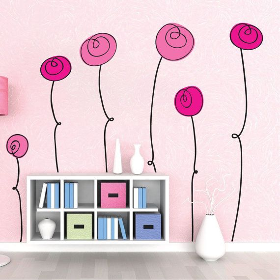Wall Art Decals best 25+ flower wall decals ideas on pinterest | wall, vintage