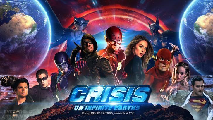 Crisis On Infinite Earths Fan Poster In 2020 Infinite Earths