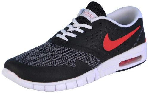Nike Men's Eric Koston 2 Max Running Shoe-Black/University Red-8.5, Size: 8.5 Medium (D, M) US, Black