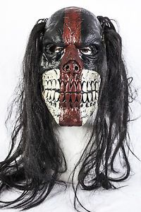 Evil-Asesino-Voodoo-Payaso-Halloween-Mascara-De-Latex-Disfraz-Zombie-Calavera