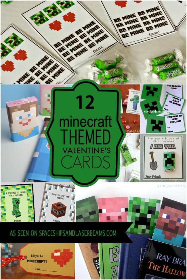 FREE-VALENTINES-CARDS If you're looking for something extra special for Valentine's Day, check out the printable Minecraft bookmarks, Minecraft Valentine story tellers and cool Minecraft brick idea.