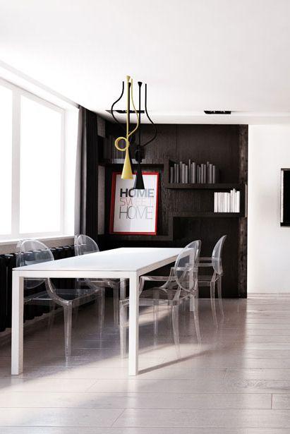 Dining room design in Katowice, POLAND - archi group. PJadalnia w mieszkaniu w Katowicach.