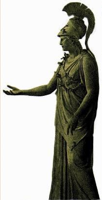 "so called ""Athena of Piraeus"" - about circa 340-375 BCE, bronze height 235 cm, at the Archaeological Museum in Piraeus"
