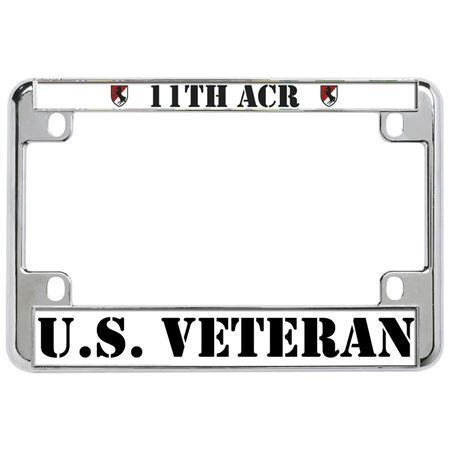 license plate frame mall 11th acr us veteran military metal motorcycle license plate frame tag - Military License Plate Frames