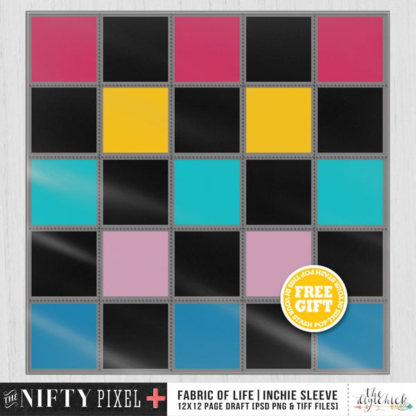 FWP 12X12 Inchie Sleeve when you purchase the FABRIC OF LIFE Inchie Templates