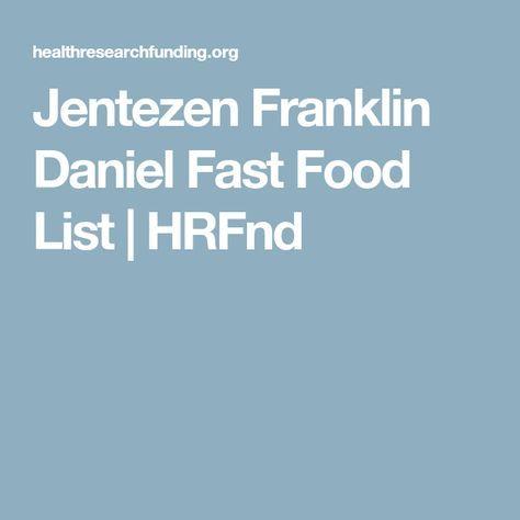Jentezen Franklin Daniel Fast Food List | HRFnd