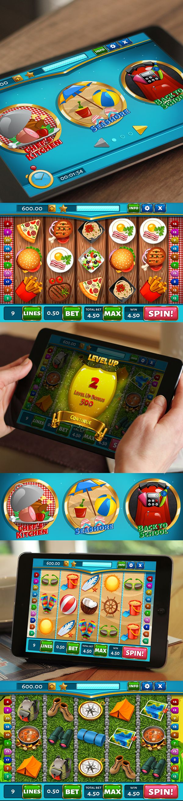 Slot game for iOS on Behance