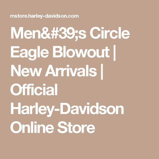Men's Circle Eagle Blowout | New Arrivals | Official Harley-Davidson Online Store