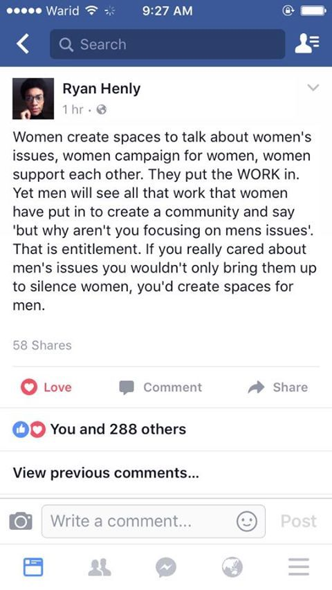 And by spaces I don't mean hooters and pro rape meetups or the barbers shop for men where all stylists are dressed like strippers and rub all over them.