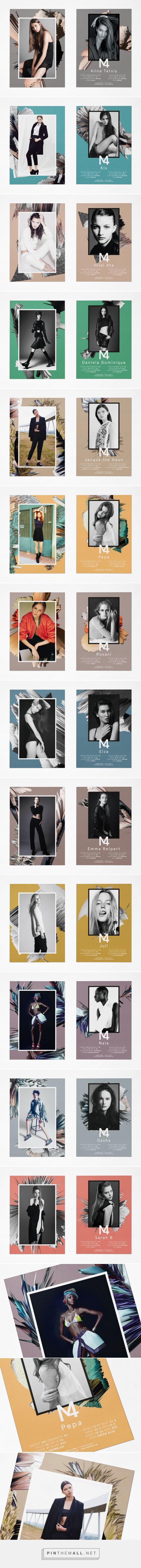 M4 Models SedCards Winter 2015 | Eps51 graphic design studio... - a grouped…