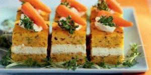 Κέικ αλμυρό με καρότα και τυριά