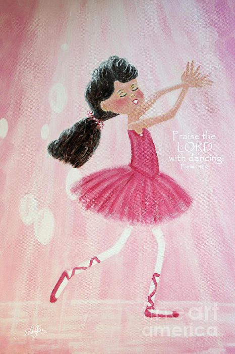Little Ballerina with Bible Verse by Cheryl Rose, prints available without watermark