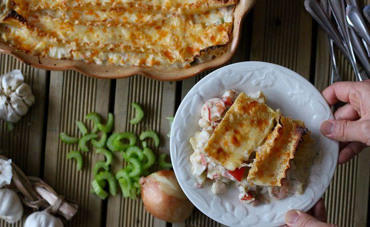 Recette de lasagne aux fruits de mer sans lactose avec béchamel sans lactose