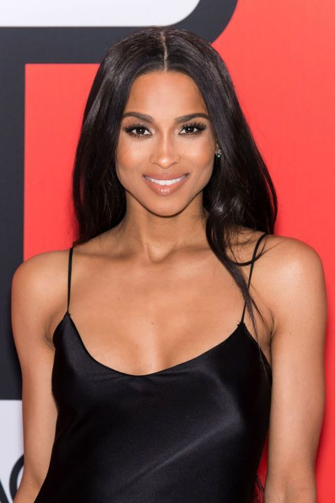 Ciara's nude lips and perfectly arched brows. See it and 9 other pretty celebrity spring beauty looks worth trying.