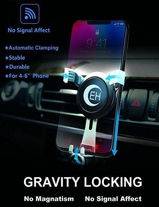 Amazon com: Car Air Vent Mount Cradle Three-Side Grips Phone