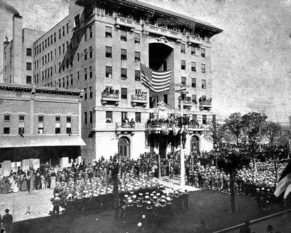 Ceremonies At The San Carlos Hotel In Pensacola For Members Of The Florida Battlecruiser 1911 Florida Memory San Carlos Hotel Pensacola Florida Hotels