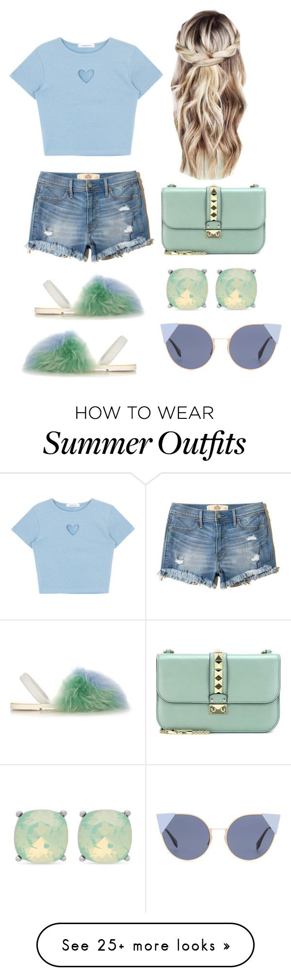 """""""Summer outfit #3"""" by tshyra on Polyvore featuring del Rio London, Hollister Co., Valentino, Spartina 449 and Fendi"""