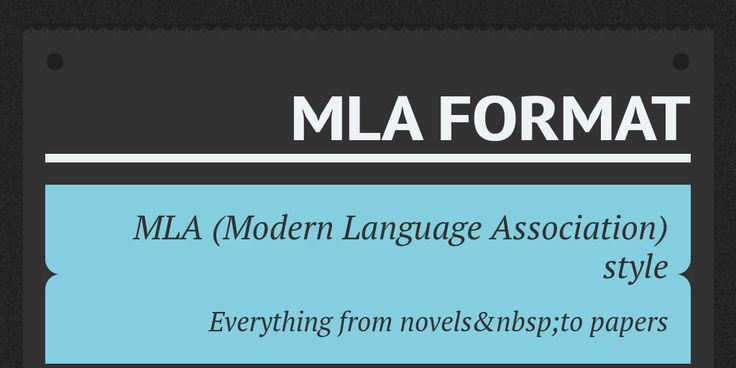 Format is a formal issue, but a good #essay should look great. Learn how to make it look perfect in terms of #MLA #citation style.