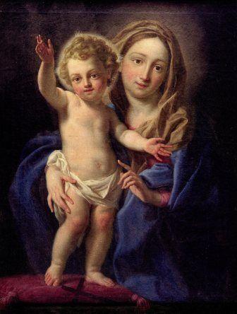 """#NicolaMonti, """"Madonna con il Bambino detta del Buon Amore"""", olio su tela 100 x 72 cm, #PinacotecaCivica #AscoliPiceno #Marche #Italy"""