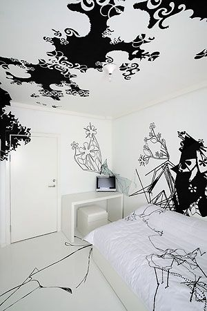 One of the rooms in Germany's HOTEL FOX is designed by Australian artists :)
