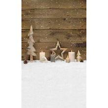 Dřevěné prkno Wall vánoční dekory Svíčky Děti Dítě Photo Studio pozadí Vinyl Digitální fotografie Látkové Backdrops (Čína (pevninská část))