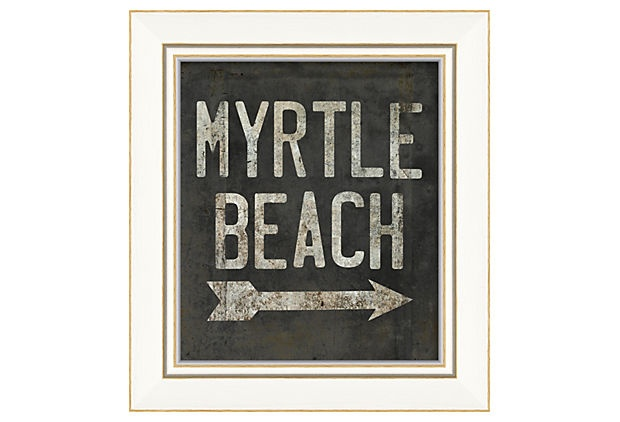 Myrtle Beach on OneKingsLane.com  You might not be walking through the dune path at Myrtle Beach until next summer, but you can capture that feeling all year long with this intentionally weathered sign.
