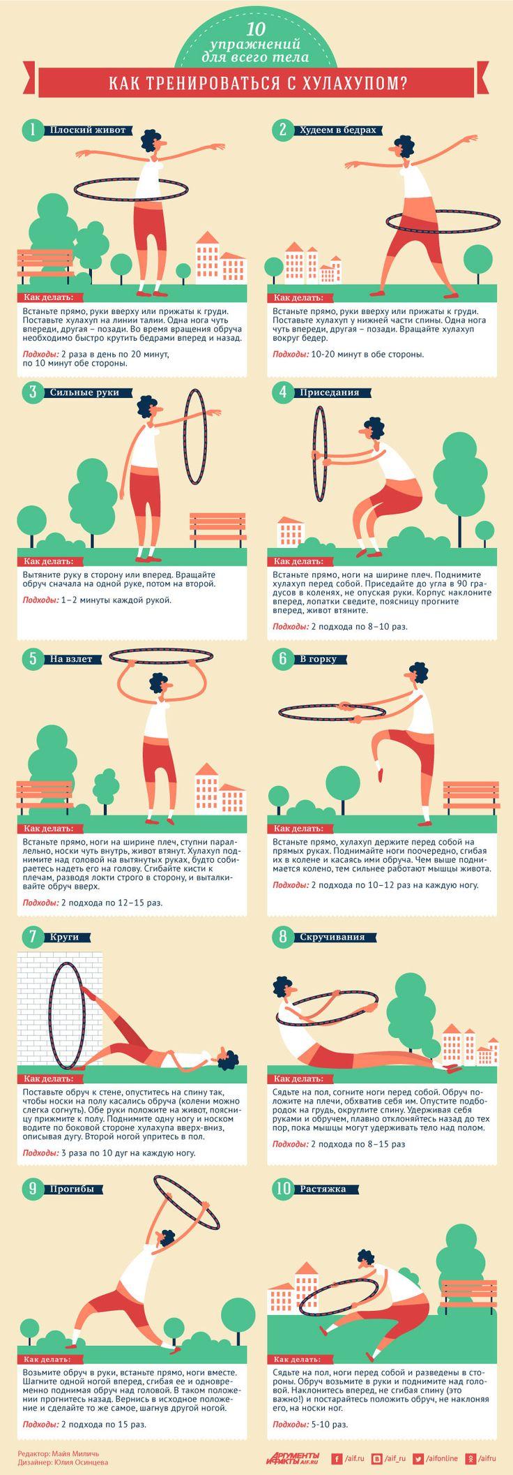 Как тренироваться с хулахупом? 10 упражнений для всего тела | Секреты красоты | Здоровье | Аргументы и Факты