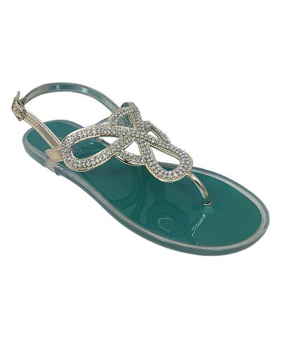 Teal Infinity Sandal