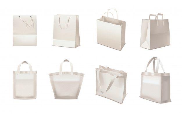 Download Baixe Conjunto Realista De Sacola De Compras Gratuitamente Shopping Bag Vector Illustration Vector