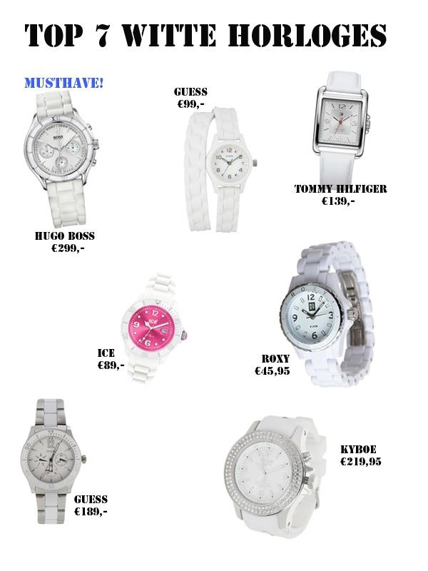 Top 7 witte horloges