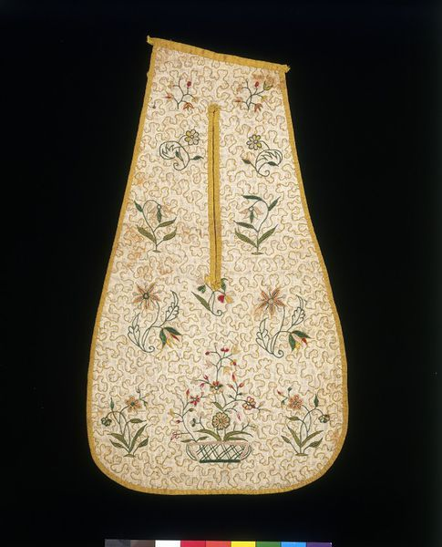 1700-1725, England - Pair of pockets - Embroidered linen with silk thread…