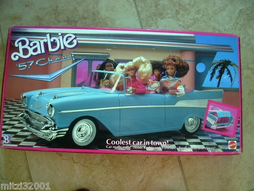 barbie 57 chevy coolest car in town blue i 39 m a barbie girl pinterest cars and nostalgia. Black Bedroom Furniture Sets. Home Design Ideas