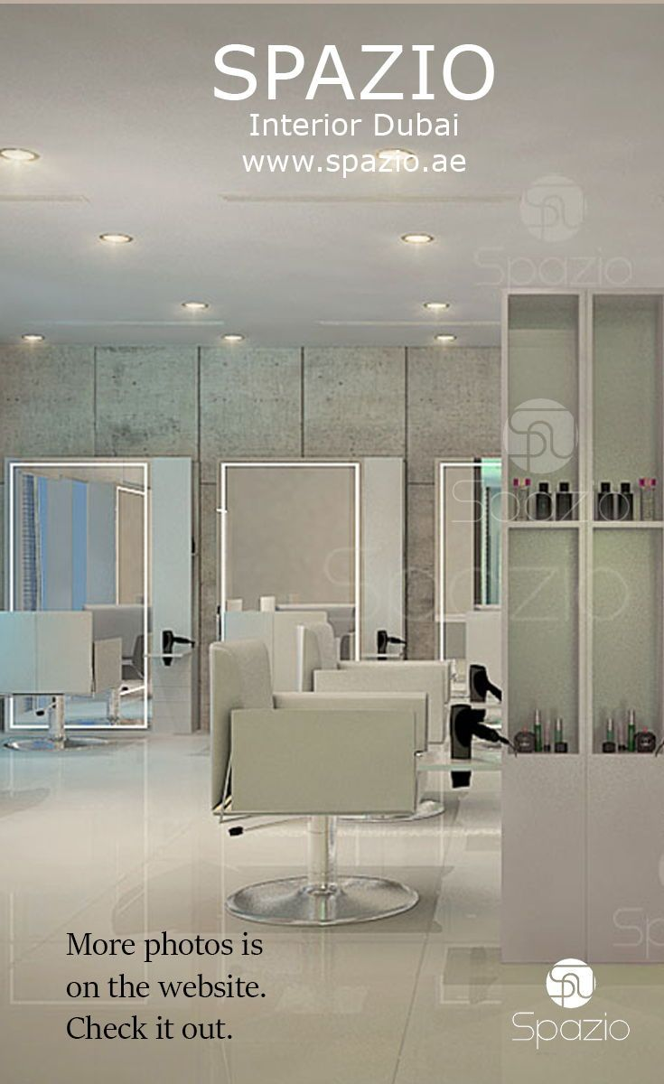 Beauty salon interior desing in white color beautysalon