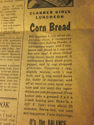 Minus the pepper and pimento, this is exactly how my family made corn bread. Only used bacon fat too. Never butter or margerine. Ahh, memories :)