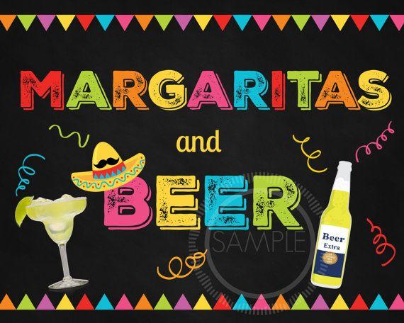 5x7 Printable Margaritas and Beer / Fiesta / Cinco De Mayo /