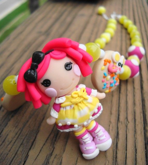 polymer clay lalaloopsy doll!! ♥ Wish I could make something this cool for Lusi's necklace! But not even trying...